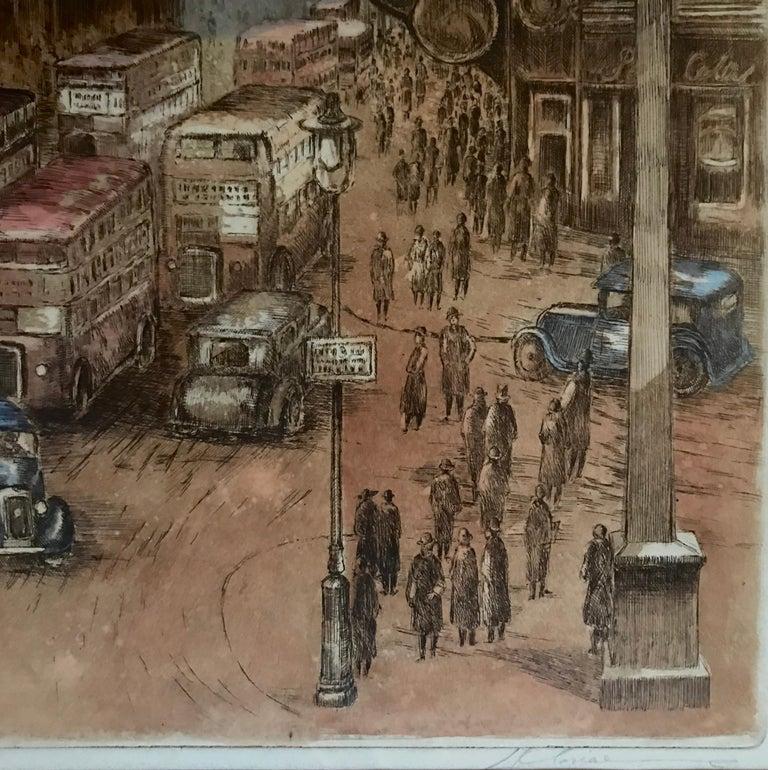 """Paris-London"" - Brown Landscape Print by Marianne L. Almasy"