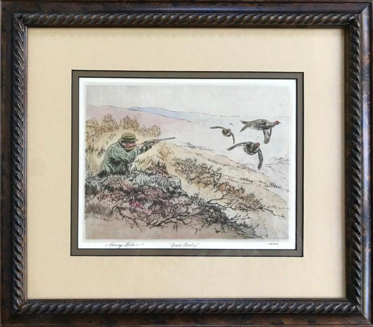 "Henry Wilkinson Figurative Print - ""Grouse Shooting"""