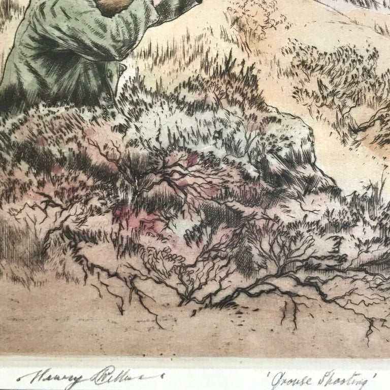 """""""Grouse Shooting"""" - Beige Figurative Print by Henry Wilkinson"""