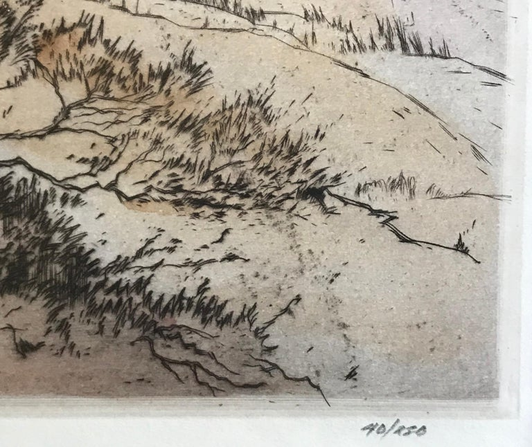 Original dry point aquatint etching by the well known British sporting artist, Henry Wilkinson.  Signed by the artist in lower left margin. Titled in pencil bottom center margin. Edition in pencil lower right margin 40/250.  Circa 1960.