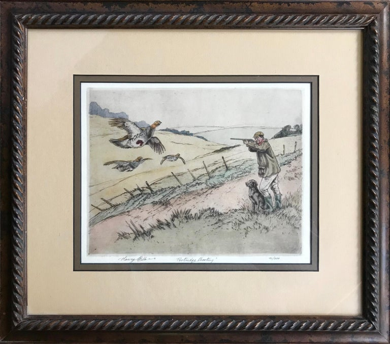 "Henry Wilkinson Figurative Print - ""Partridge Shooting"""