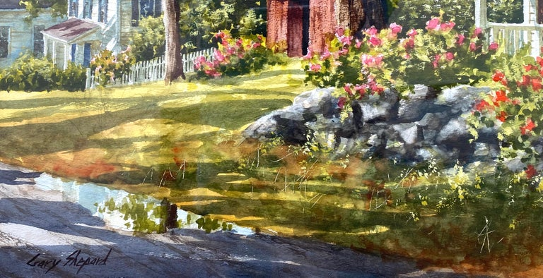 """Stone Wall"" - Post-Impressionist Art by Gary Shepard"