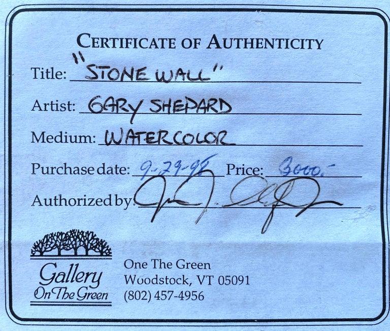 """Stone Wall"" - Gray Landscape Art by Gary Shepard"