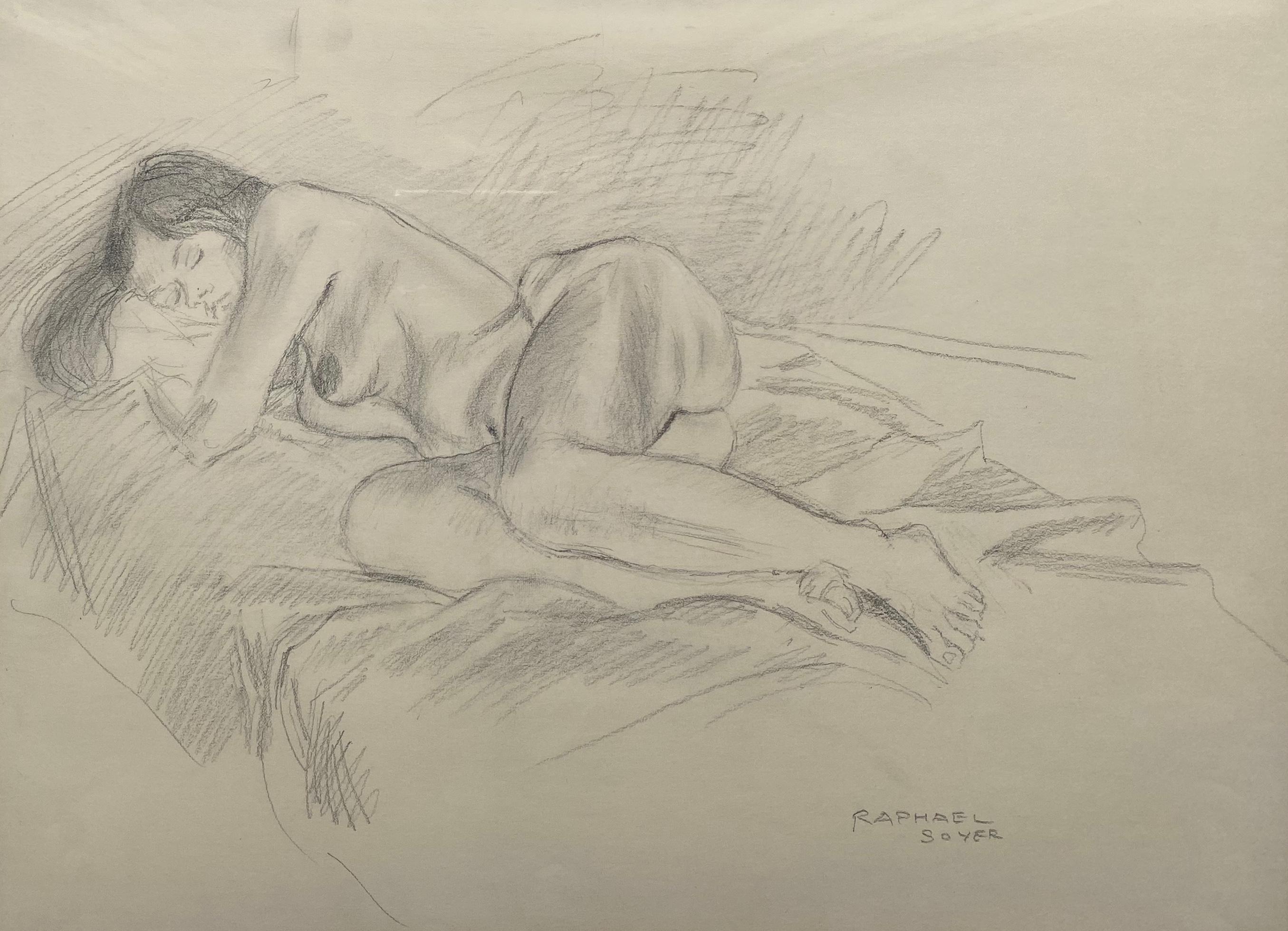 """""""Sleeping Nude B/W"""""""