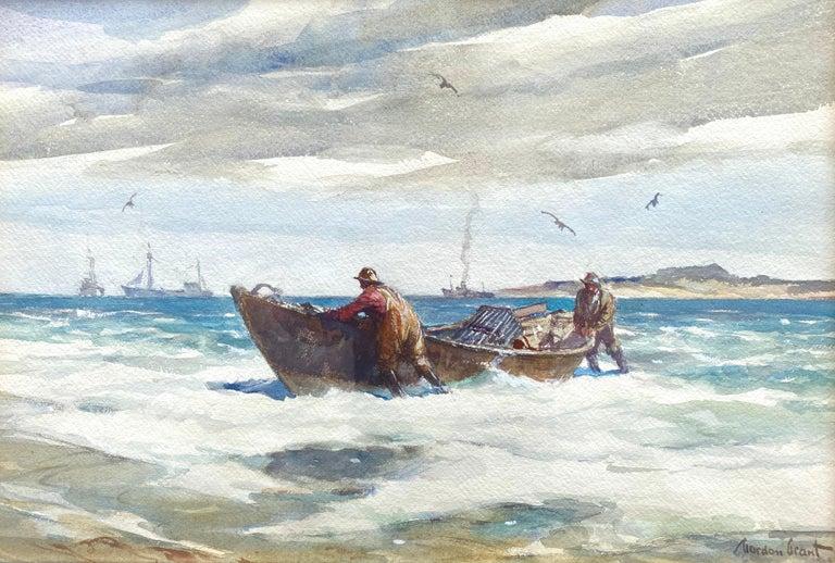 """Gordon Grant Landscape Art - """"The Lobstermen"""""""