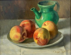 """Green Pitcher with Peaches"""