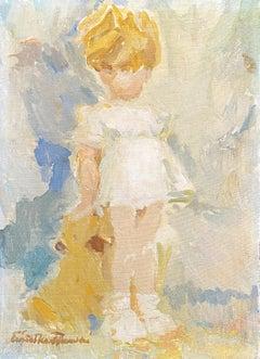 """Child with Teddy Bear"""