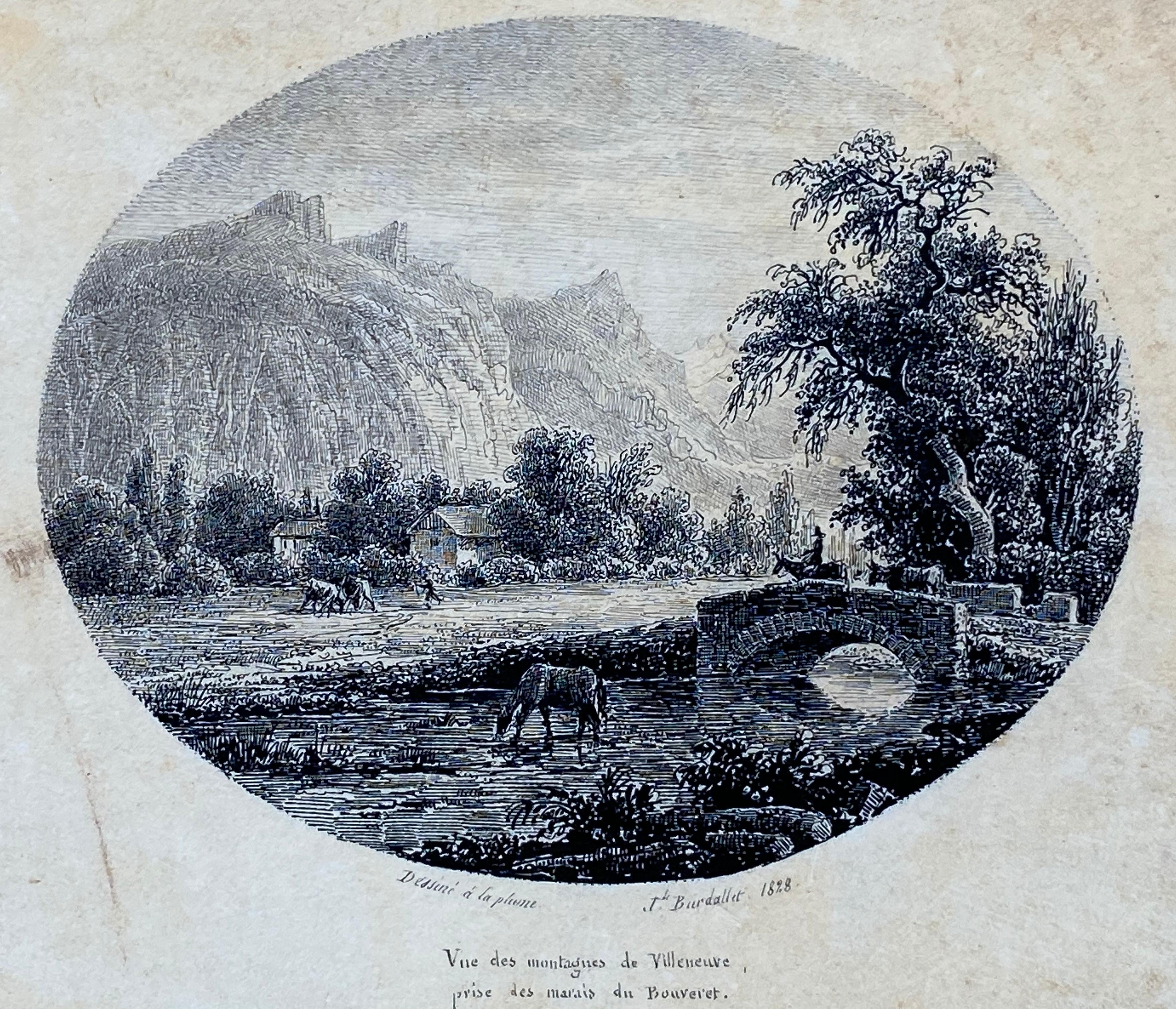 """""""Vue des Montagnes de Villeneuve"""""""