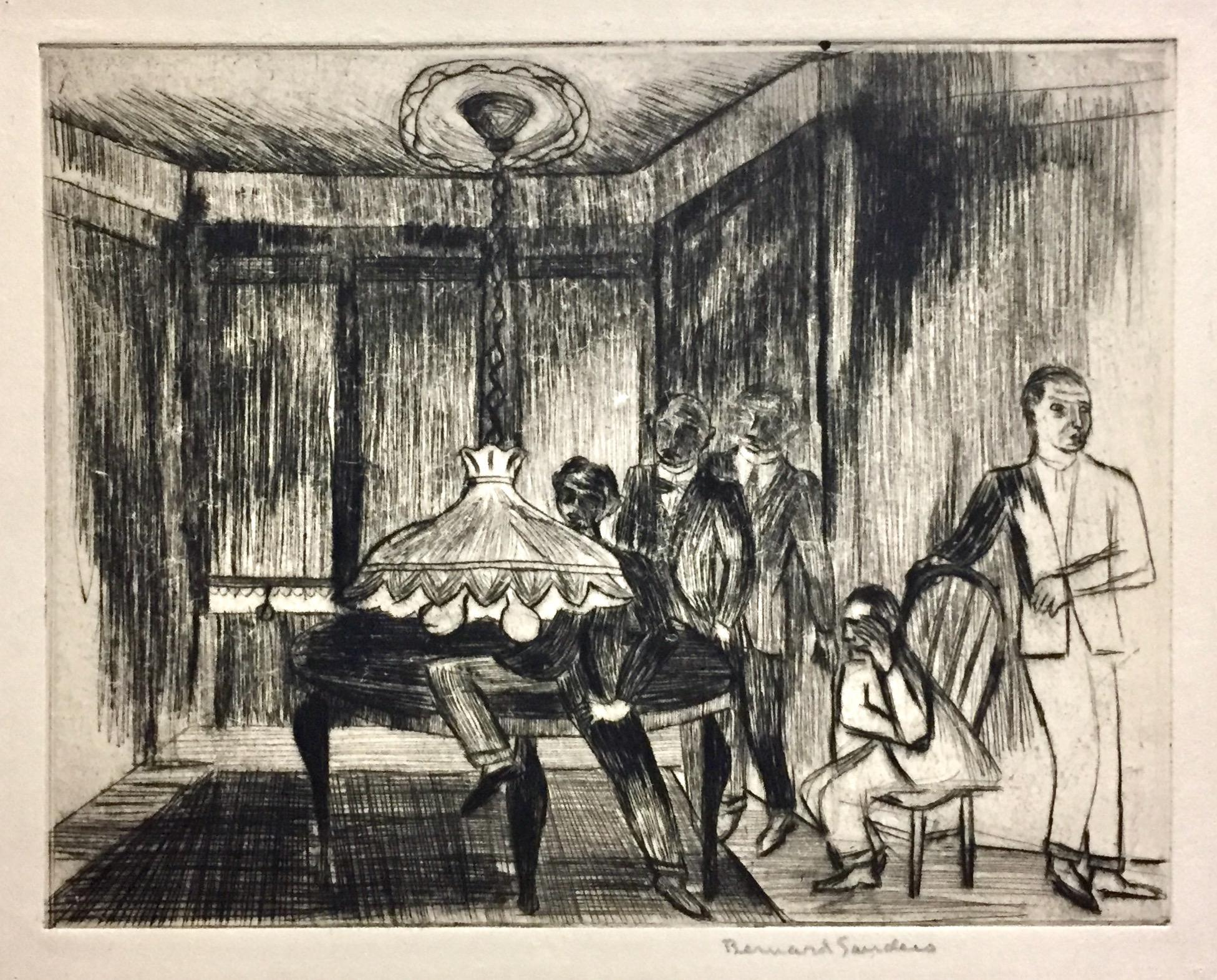 (Interior with Five Men)