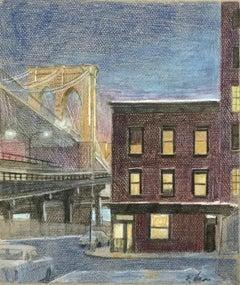 (View of the Brooklyn Bridge)