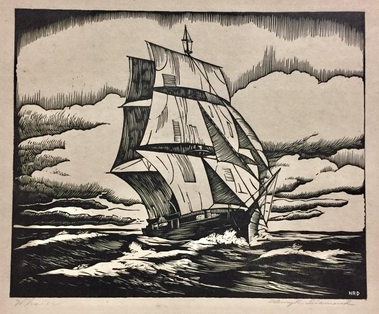 Henry R. Diamond Landscape Print - Whaler