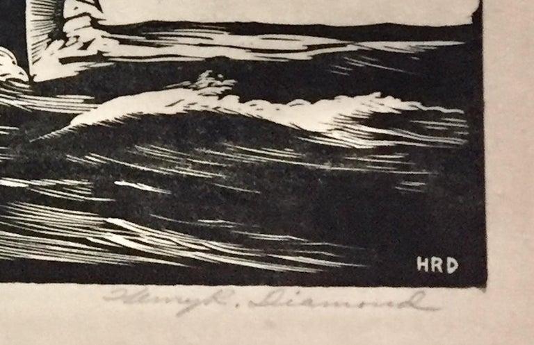 Whaler - American Modern Print by Henry R. Diamond