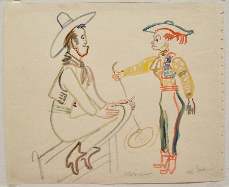 Santa Fe Cowhands - Art by Alfred Bendiner