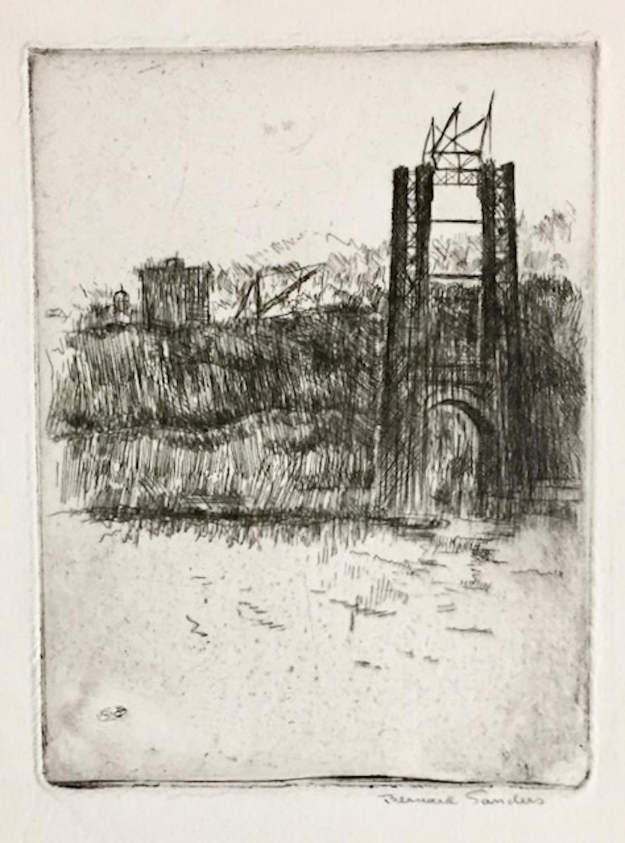 George Washington Bridge Under Construction (from New York City)