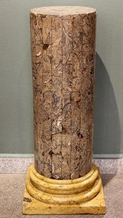Neoclassical scagliola column