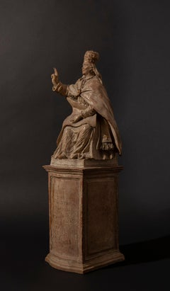 Terracotta Model for the sculpture picturing Pope Clement XIV Ganganelli