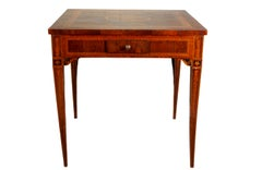 Squared and inlaid table