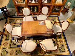 Six chairs Luigi XVI in walnut wood with padding