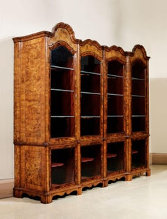 Venetian master, Large two-bodied wundercammer cabinet with four glass doors