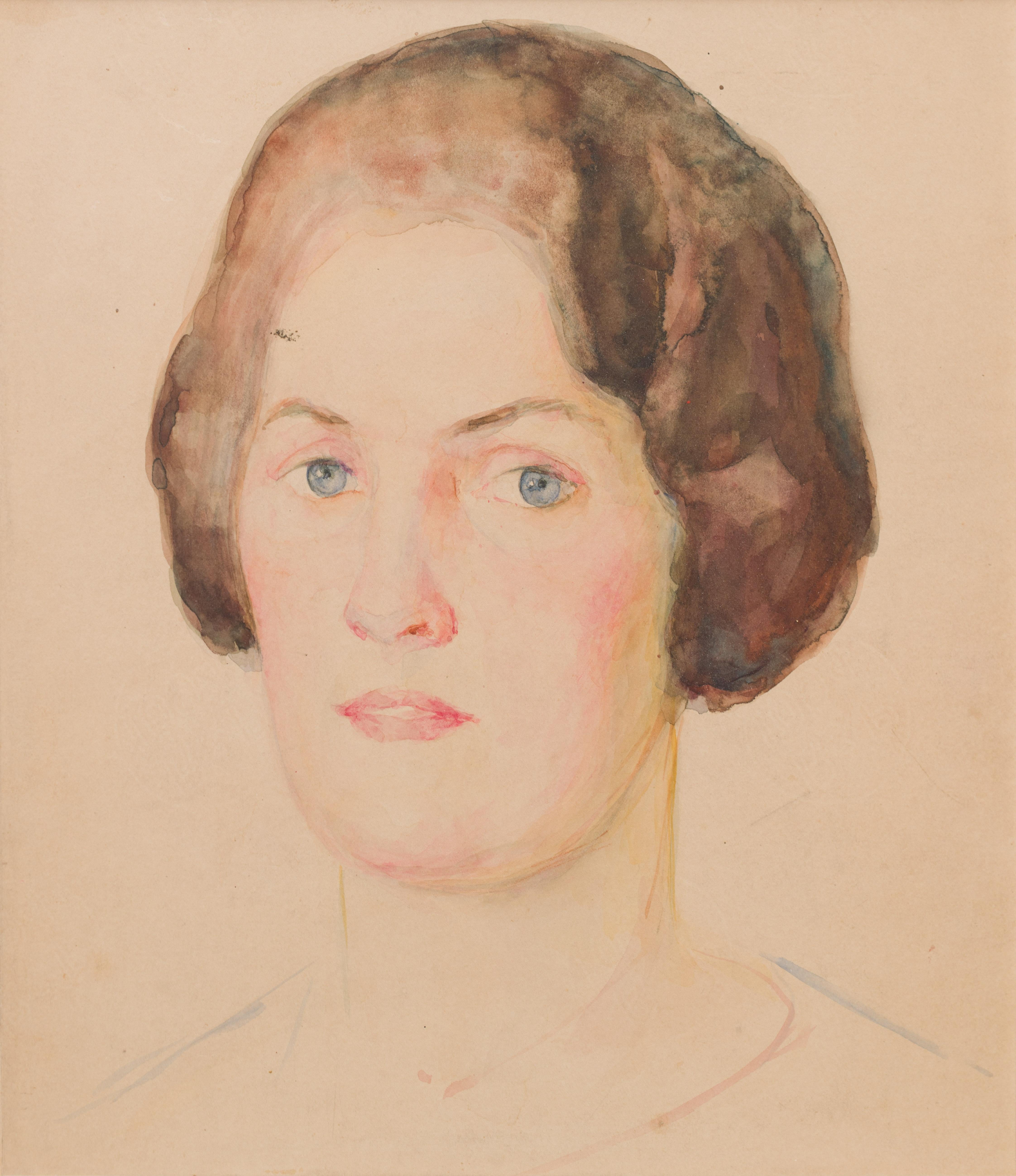 modern sketch of woman  in pastel tone
