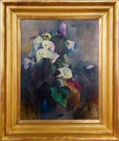 Calla Lilies, Abstract Modern Still Life