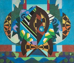 Taking Aim - Eileen Agar, british, surrealist, female, modern, colors, abstract