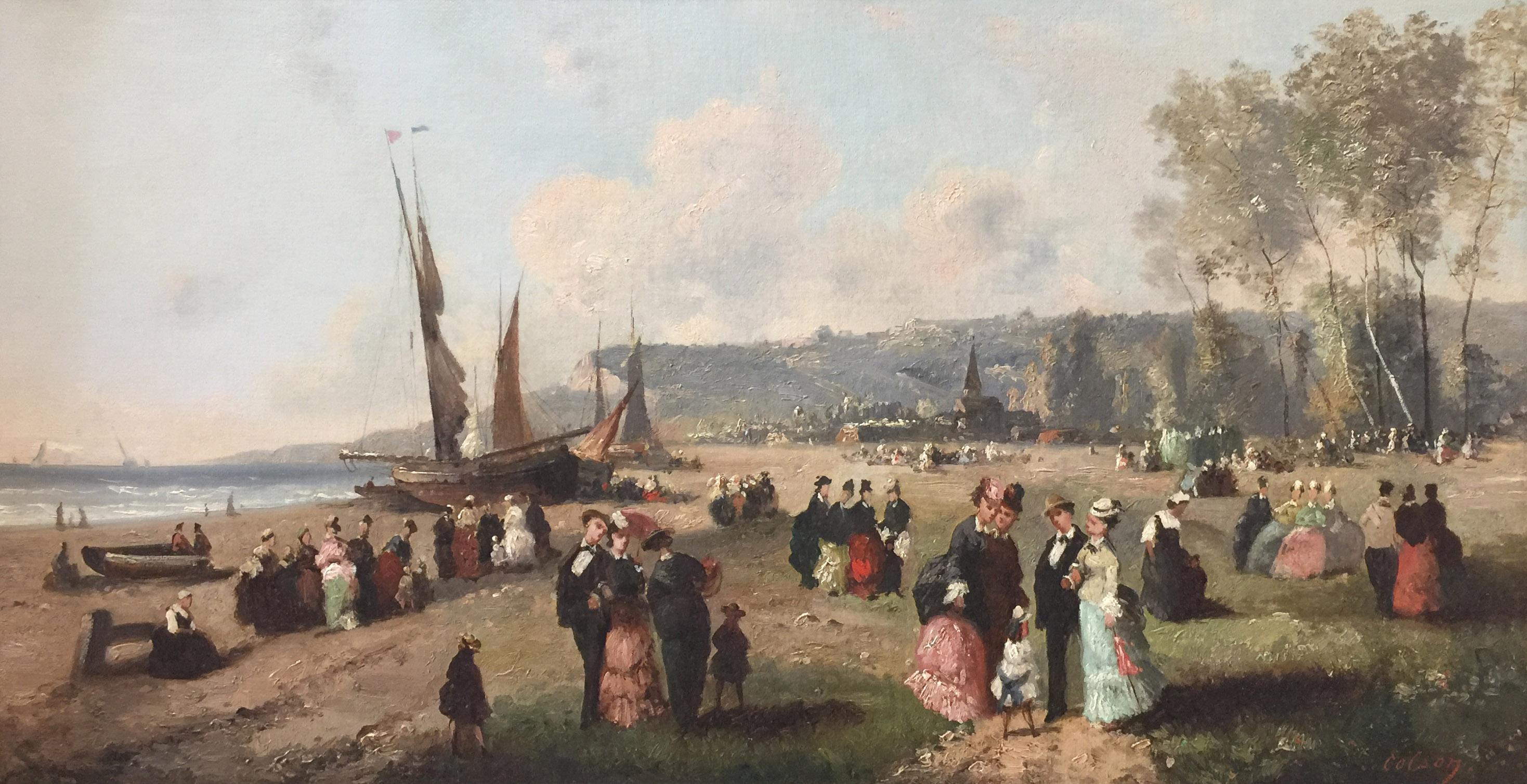 Guillaume-François Colson - Sur la plage, french, beach, 19th century, painting