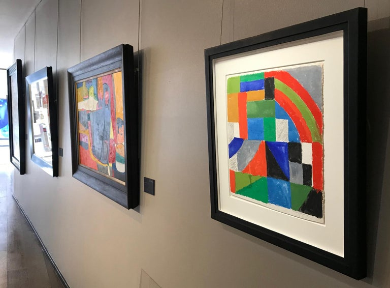 Rythme couleur - Sonia Delaunay, geometric, colors, abstract, original, modern For Sale 2