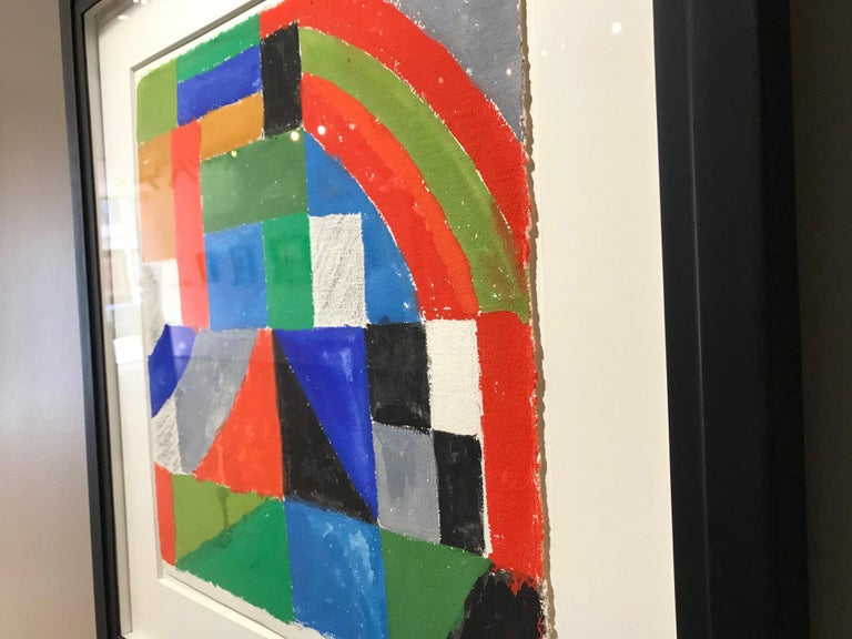 Sonia Delaunay (1885-1979) Rythme couleur 1962 gouache and charcoal on paper 41 x 38.5 cm signed 'Sonia Delaunay' (lower left); inscribed 'F971' (lower centre)  Price: £58,000 GBP  Provenance: Private collection, France Sale: Artcurial, 30 May 2012,
