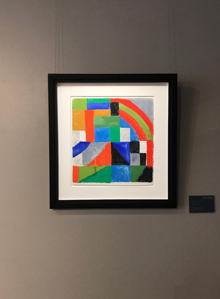 Rythme couleur - Sonia Delaunay, geometric, colors, abstract, original, modern For Sale 3