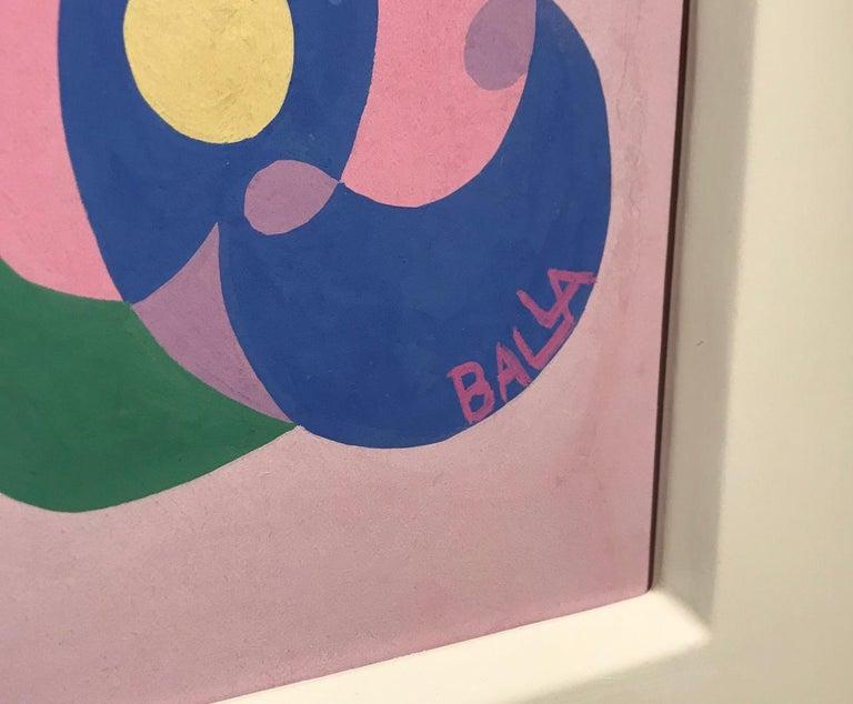 Linee andamentali - Giacomo Balla, futurist, modern, abstract, italian, colorful - Purple Abstract Drawing by Giacomo Balla