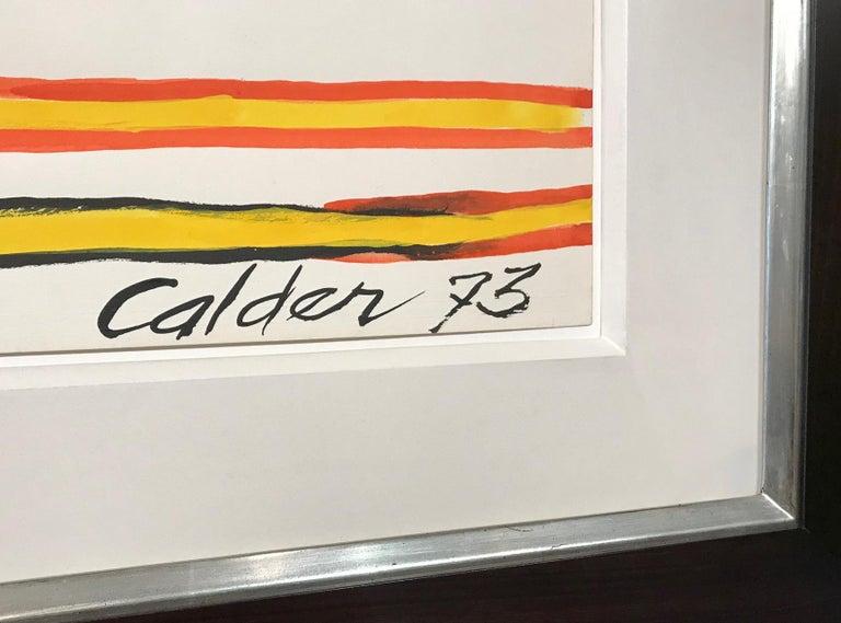 Plumbings II - Alexander Calder, modern, american, illustration, design - Gray Abstract Drawing by Alexander Calder