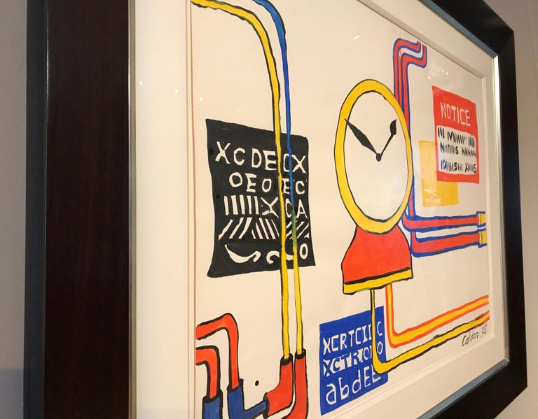 Plumbings II - Alexander Calder, modern, american, illustration, design For Sale 2