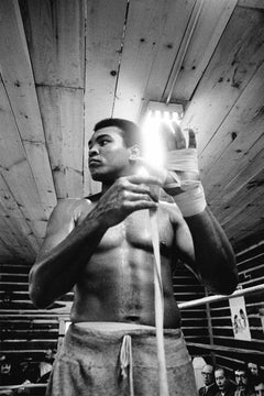 Wrapping Up - Chris Smith, Muhammad Ali, Ali, black and white, boxing, 30x20 in