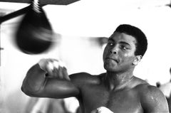 Speedball - Chris Smith, Muhammad Ali, boxing, black and white, 20x30 in
