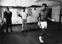 Ali Skipping - Chris Smith, Muhammad Ali, boxing, black & white, 20x30 in
