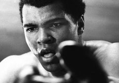 Between Rounds - Chris Smith, Muhammad Ali, boxing, black & white, 34.5x48 in