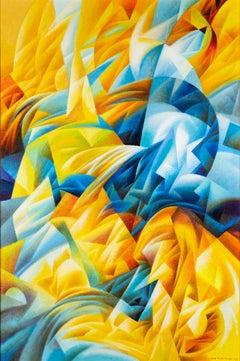 Ivan Turetskyy - Sun dunes, painting, contemporary, futurist, abstract, movement