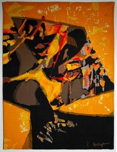 Mathieu Matégot - Castille, tapestry, french, modern, abstract, aubusson, design