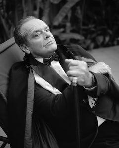 Lorenzo Agius - Jack reclining, jack nicholson, black and white, photo, 40x30 in