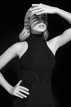Lorenzo Agius - Margot Robbie, black and white, portrait, photography, 60x48 in