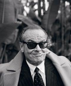 Lorenzo Agius - Jack Nicholson, portrait, black and white, photo, 60x48 in.