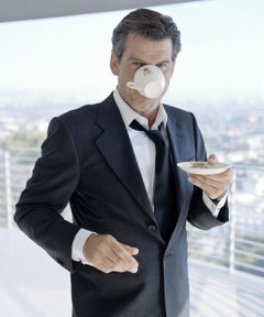 Lorenzo Agius - Pierce Brosnan, photograph, actor, irish, james bond, 40x30 in
