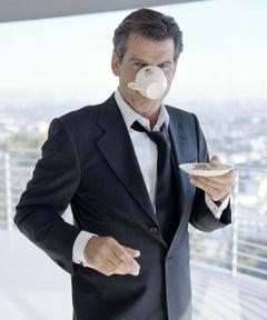 Lorenzo Agius - Pierce Brosnan, photograph, actor, irish, james bond, 60x48 in