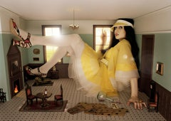 Lorenzo Agius - Lizzy Jagger, dolls house, colour, photography, 48x60 in