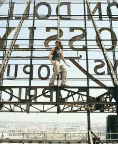 Lorenzo Agius - Hugh Jackman, photography, actor, rooftop, color, 60x48 in
