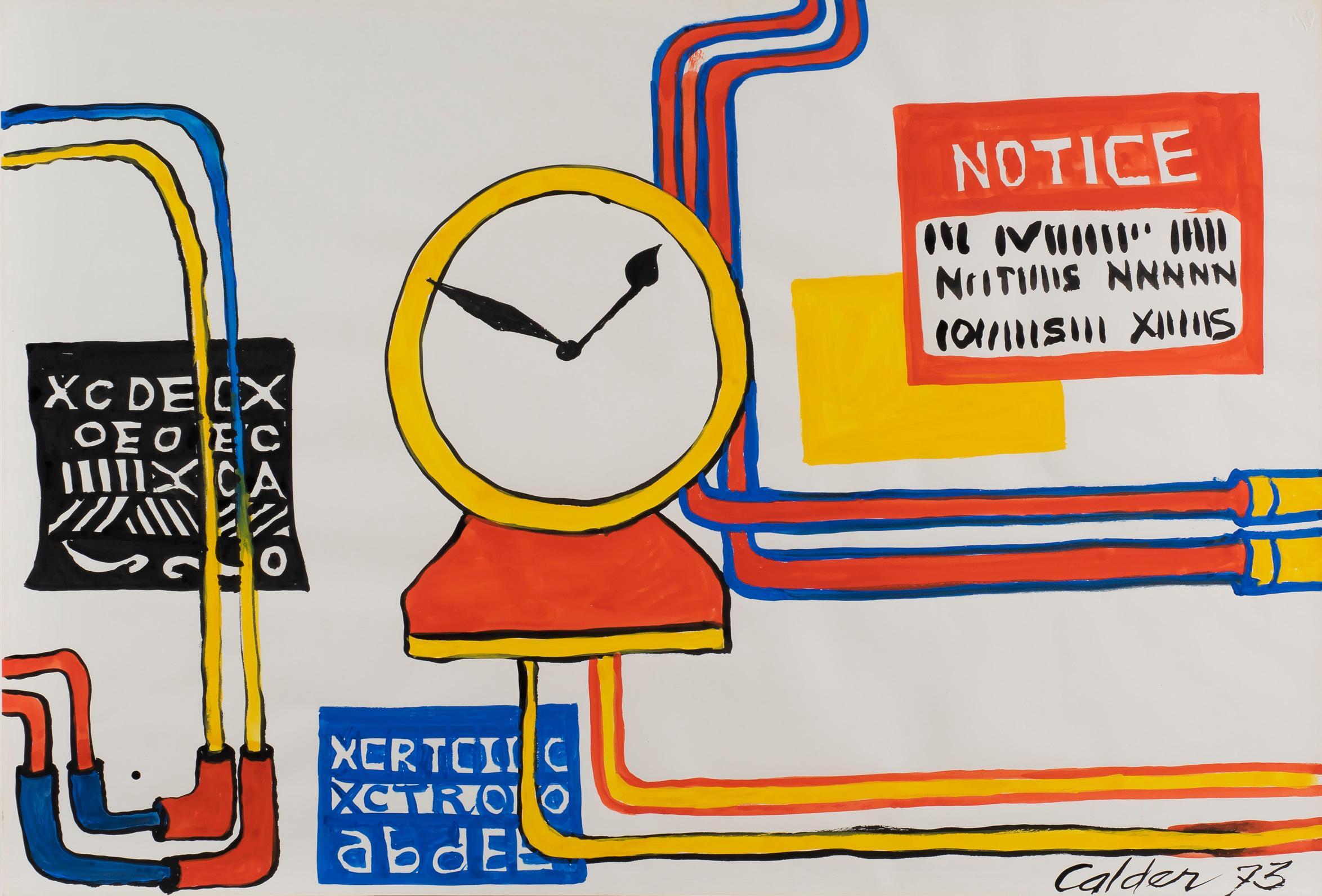 Plumbings II - Alexander Calder, modern, american, illustration, design
