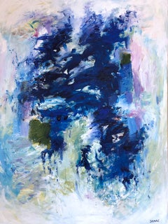 Blue Monday - contemporary abstract expressionism acrylic on canvas painting