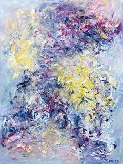 When Sunny Gets Blue - contemporary abstract expressionism painting on canvas