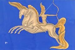 Diana The Huntress on Horseback